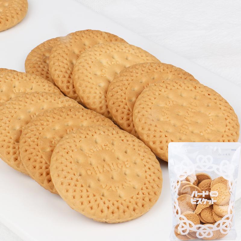 日本进口零食 北陆牛乳原味饼干经典脆圆饼干小麦饼干140g 1164