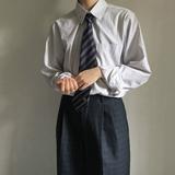 【4月发】Anzmo 贩卖元气原创条纹长袖衬衫 领子刺绣 JK/DK制服衬