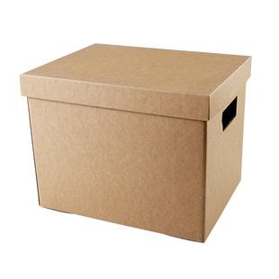 牛皮纸零食超硬搬家离职有盖收纳盒