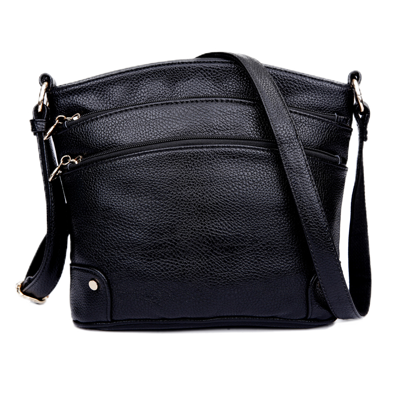 Multi layer womens bag middle aged womens bag mothers backpack simple middle aged and old peoples single shoulder small bag soft leather bag