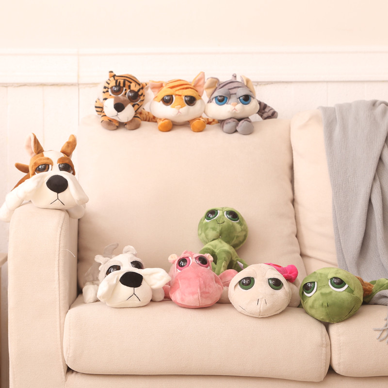 特价正版大眼系列公仔乌龟小狗河马猫八爪鱼老虎玩偶毛绒玩具礼物