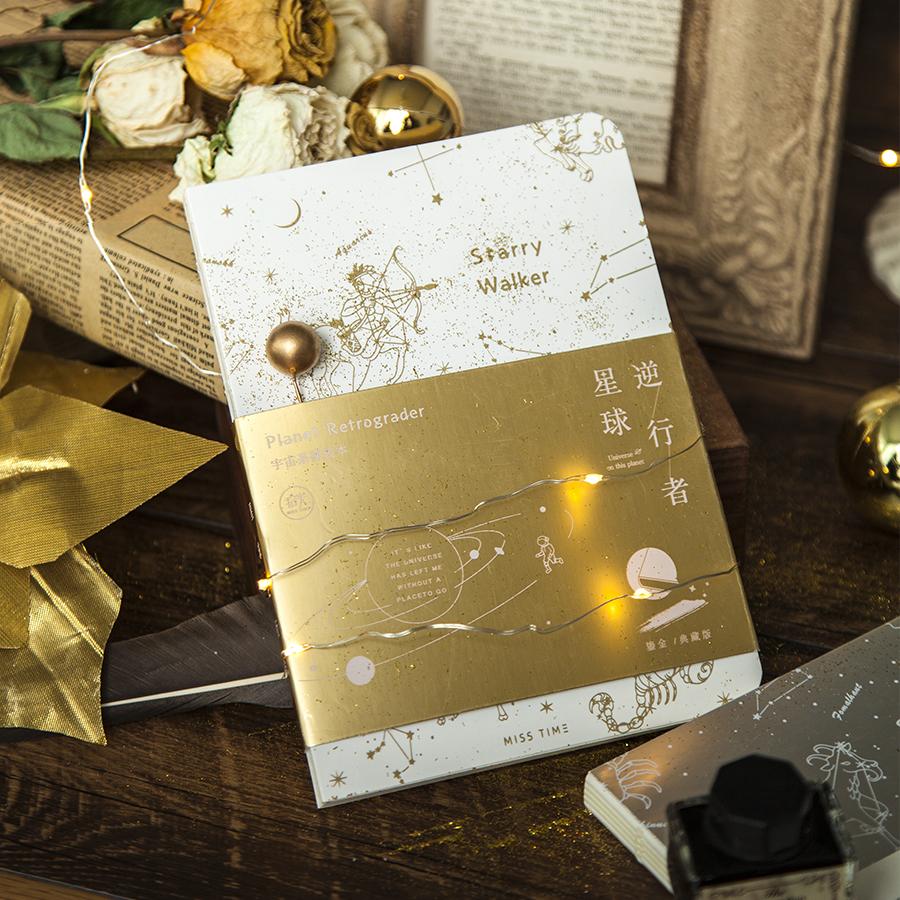 拾光裸装本星球逆行者烫金烫银复古手帐本空白学生用记事笔记本子券后11.80元