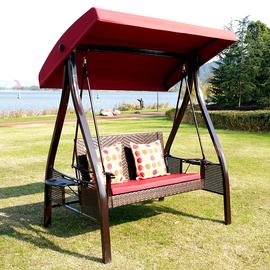 户外秋千吊椅室外阳台庭院家用花园网红摇椅铁艺室内双人荡秋千椅图片