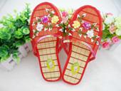 复古经典包头款创意花朵网面清爽透气家居家凉拖鞋