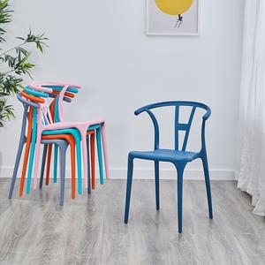 网红家用北欧餐椅塑料凳子现代简约椅子靠背休闲椅书桌椅洽谈
