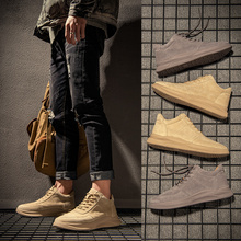 Men's Shoes Autumn 2019 New Trendy Shoes Martin Boots Men's High Uppers