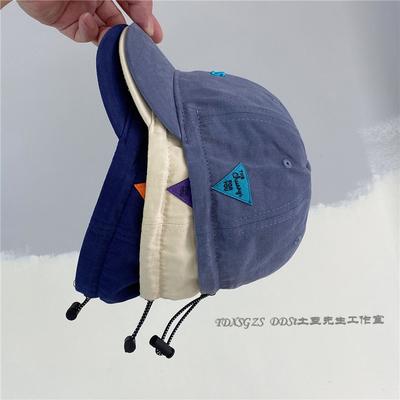 亲子儿童帽子春夏季短檐鸭舌帽男女童日系复古薄款纯棉四季棒球帽
