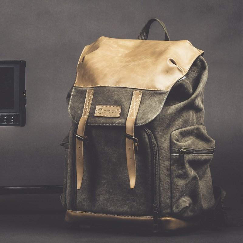 國家地理相機包單反攝影包牛皮帆布休閑雙肩戶外電腦背包