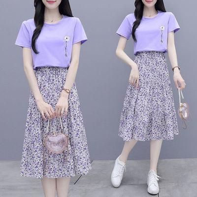 小个子套装裙2021夏季新款流行t恤