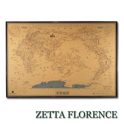 软木板复古世界地图中文版,中国旅游地图打卡标记足迹地图照片墙