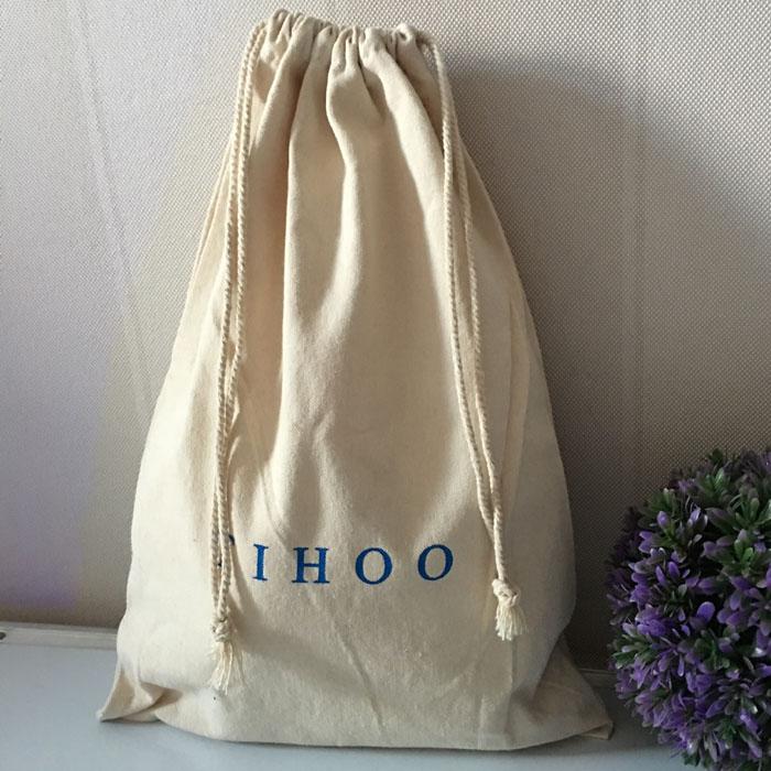 定制棉布束口袋拉绳袋防尘袋新鞋包装袋鞋袋可反复清洗环保耐用