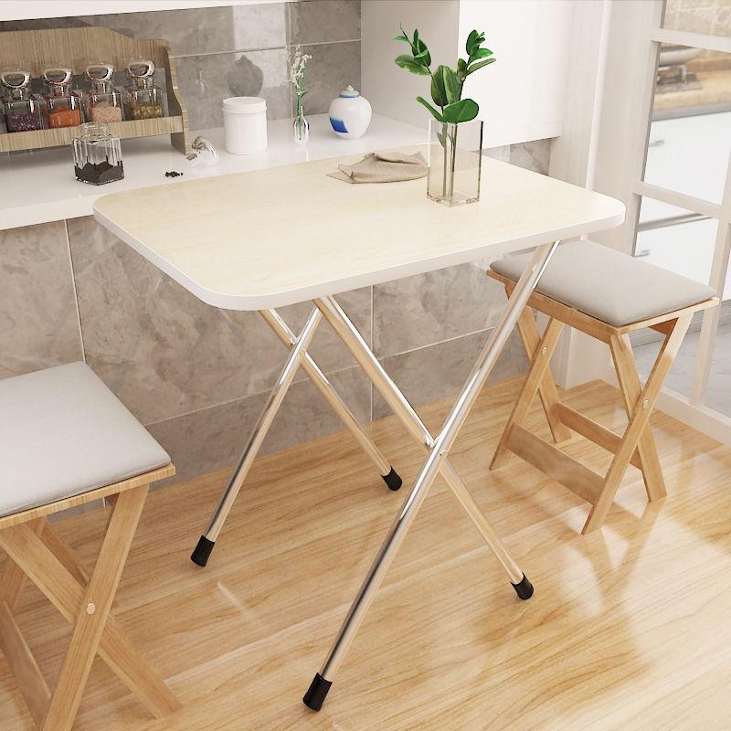 小户型折叠桌子简约吃饭桌家用桌简易户外便携式摆摊桌可折叠餐桌,可领取1元天猫优惠券