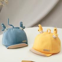 婴儿帽子春秋薄款可爱超萌男童鸭舌帽短檐女宝宝遮阳防晒帽婴幼儿