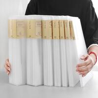 查看尼家 简约无印风A4资料夹透明资料册夹办公用品文件夹多层 学生用价格