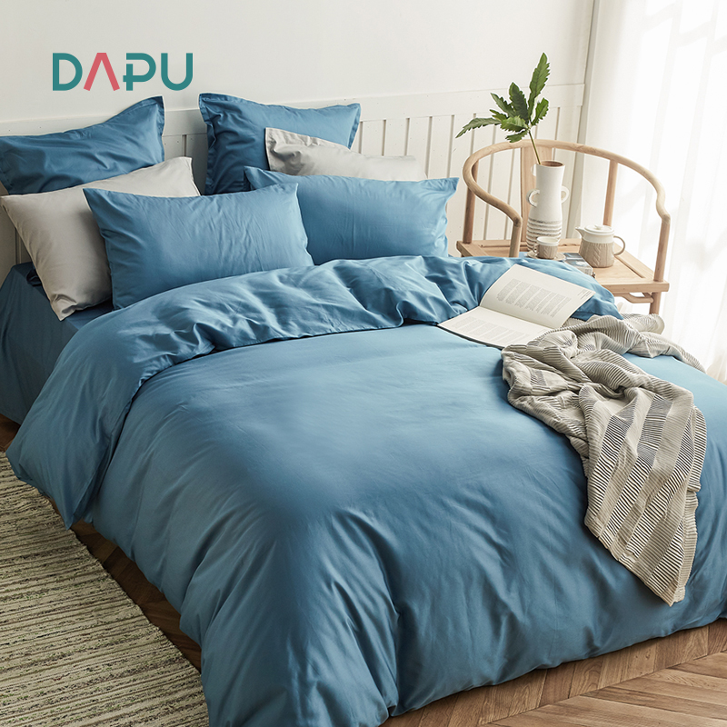 Dapu Class A four-piece 60 long-staple cotton cotton pure cotton simple Nordic style duvet cover three-piece bed sheet
