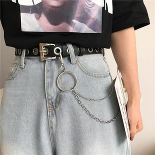 欧美摇滚圆圈链条全是孔的女裤腰带
