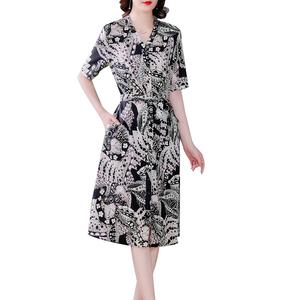 重磅真丝连衣裙夏季高端桑蚕丝裙子