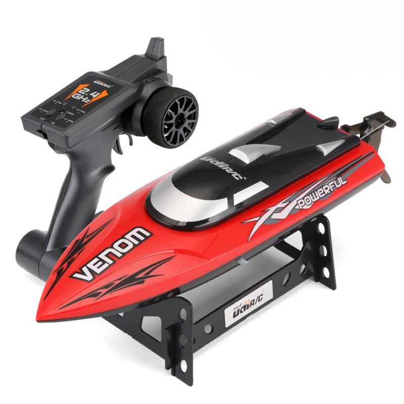 优迪儿童玩具2.4G可充电动超大遥控船 高速快艇水冷轮船赛艇模型