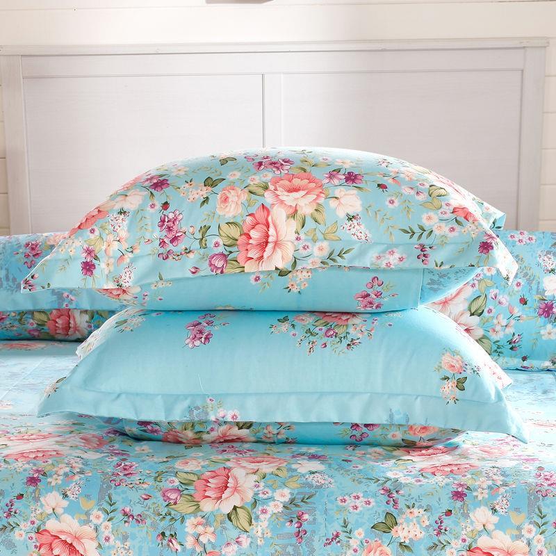 枕套一对 加厚磨毛卡通学生宿舍双人保健枕头套42*72cm多色枕芯套