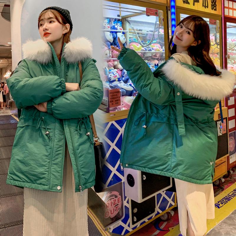 實拍2019秋冬新款羽絨服女韓版寬松學生棉衣面包服外套ins 速賣通