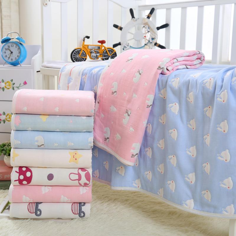 Ребенок полотенце марля шесть хлопок абсорбент купаться крышка одеяло ребенок новорожденных ребенок крышка находятся полотенце одеяло партия волосы