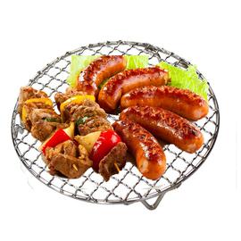 空气炸锅烧烤网 烤肉网篦子网片加粗有脚支架烧烤架韩式304不锈钢图片