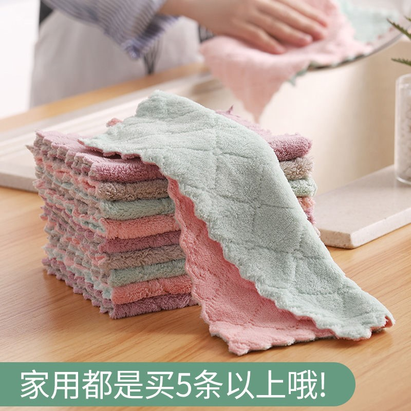 Household dishcloth oil-free dishcloth kitchen utensils absorbent towel not hair wipe tablecloth household cleaning artifact