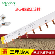 Schneider 2P Confluence 24 bits can be connected to 12 2P empty open connection copper row wiring row a9xph224