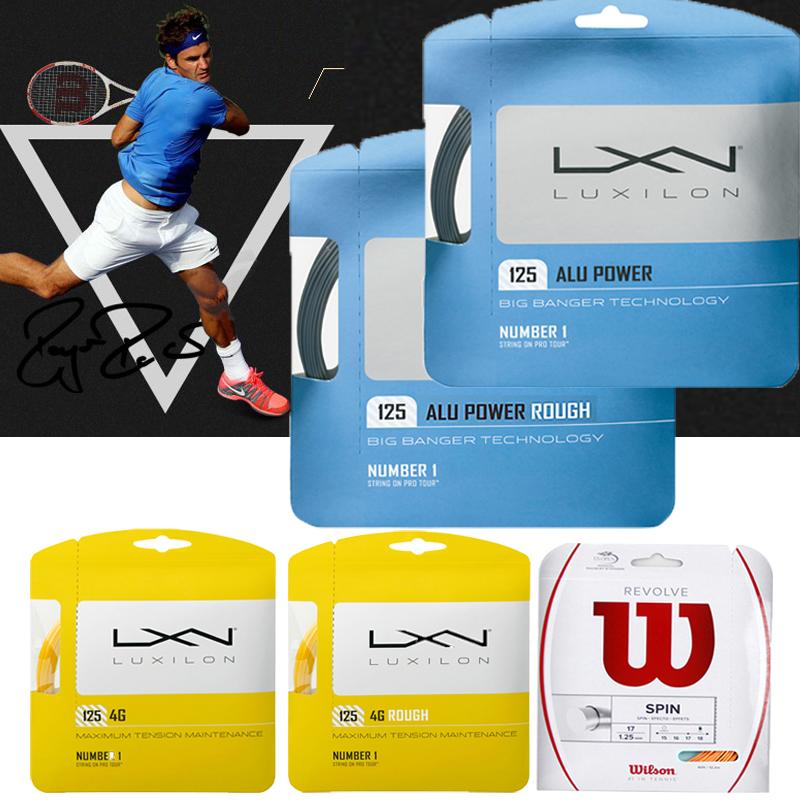 Подлинный расходы адлер люкс волна Luxilon ALU Power Rough 125/ 4г жесткий полиэстер теннис линия