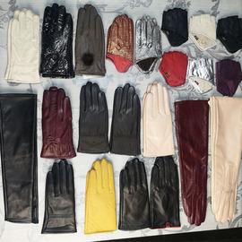 真皮手套女士冬季骑行加绒保暖防风户外女士半掌真皮手套男式