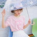 宽松纯棉白色学生韩版T恤女短袖