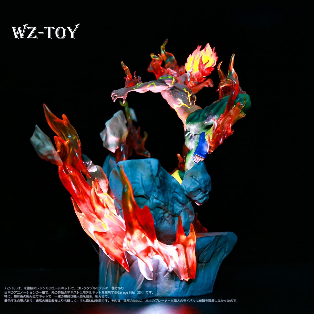 火影忍者gkマイト凱八門の遁甲JZ夜凱可は明かりをともしてフィギュアを飾って彫刻像のプレゼントを包んで郵送します。