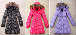 CLELIA Italian brand raccoon fur collar down jacket and long sections of low priced fashion big promotion