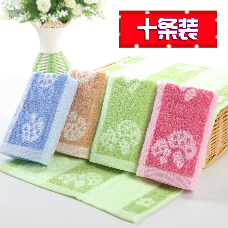 纯棉儿童小毛巾家用洗脸幼儿园小孩擦脸小手巾长方形卡通小童巾