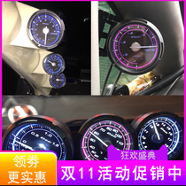 台湾汽车三联表赛车改装转速水温油压油温电压真空涡轮压力表