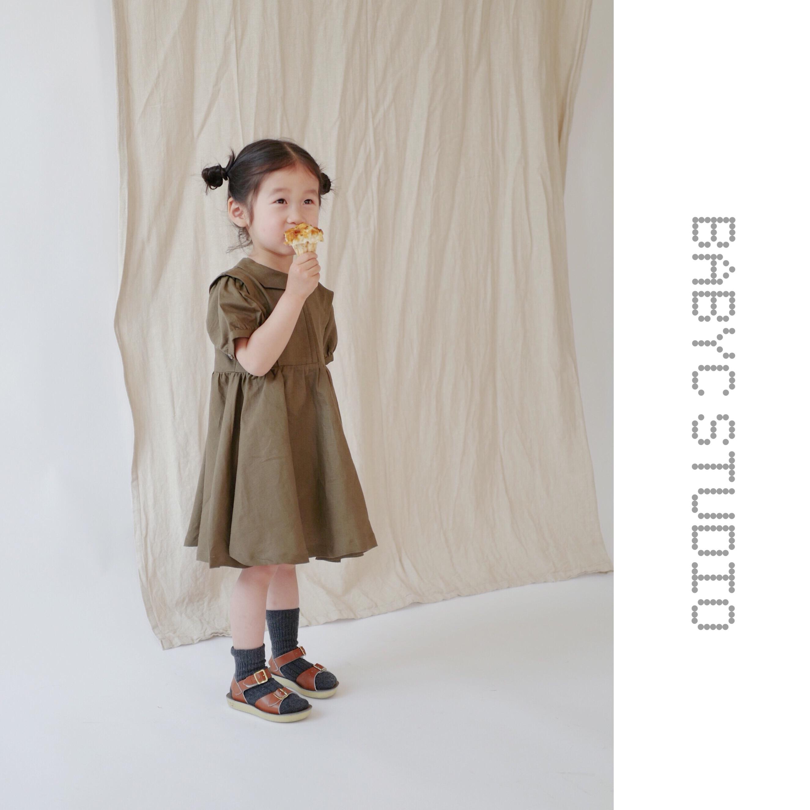 c妈自制女童夏装2018新款棉麻复古气质小众定制短袖连衣裙公主裙