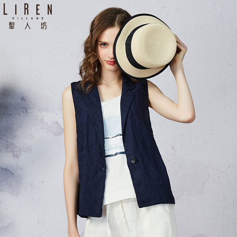 Coleman's suit collar vest women's new casual and versatile thin style jacket with cardigan and vest in 2019 summer