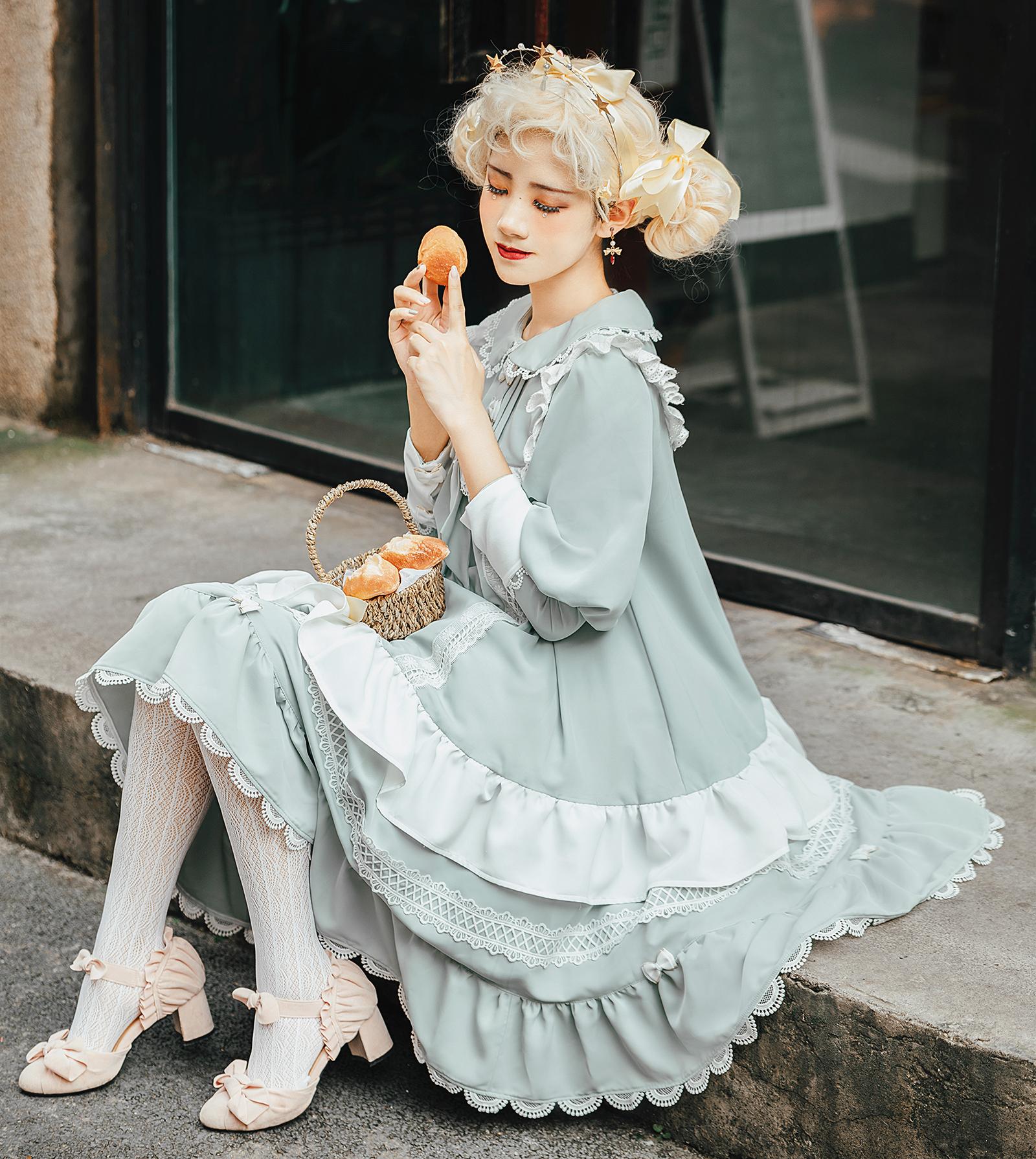 【现货】甜茶欧蕾 花神的祈愿原创  洛丽塔Lolita宽松娃娃裙 OP