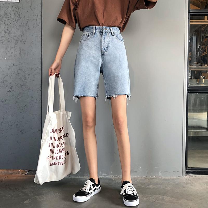 热销160件包邮牛仔女夏2019新款韩版学生五分裤