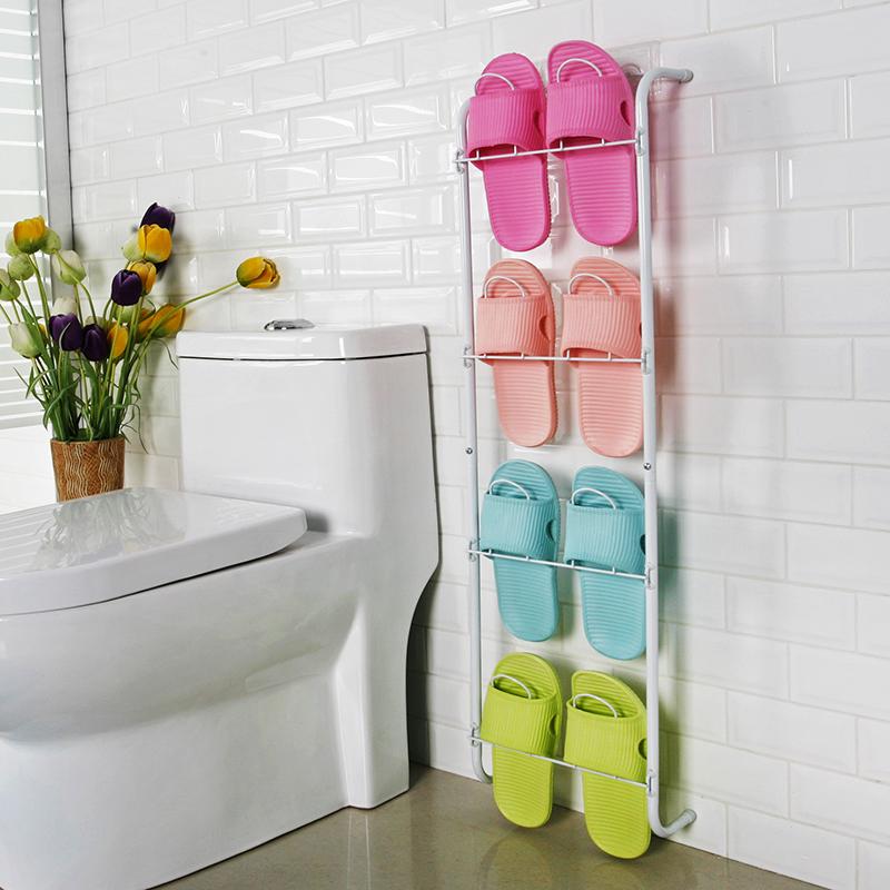 浴室卫生间拖鞋架门后墻壁挂架迷你鞋架简易收纳经济铁艺宿舍鞋架