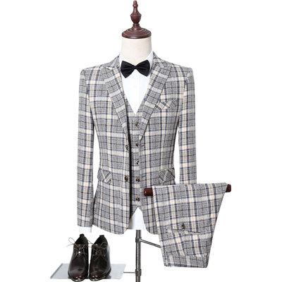 西服套装男士三件套商务修身职业正装西装新郎结婚礼服TZ103/P260