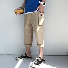 7夏季男士韩版休闲七分裤男宽松潮流阔腿工装7分哈伦短裤FK03/P45