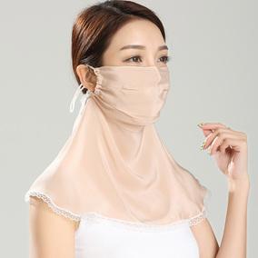 真丝面罩女性防紫外线夏季防尘口罩