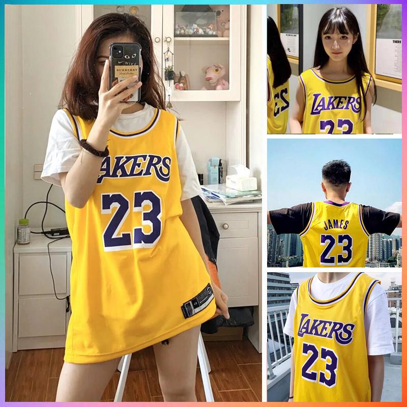 湖人队23号詹姆斯球衣科比男女学生韩版嘻哈情侣篮球服bf外穿背心图片