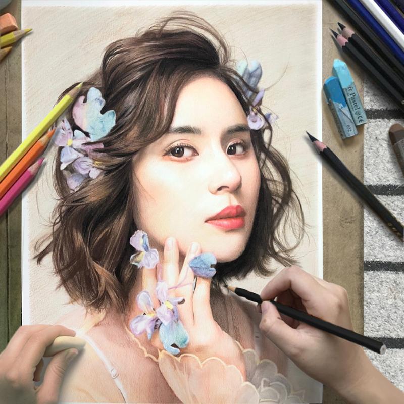 Эскиз портрет портрет чистая рука нарисованная реальность аватар сменила руки картины фотографии цвет Образец свинца поколение Настройка рисунка рисунка эскиза