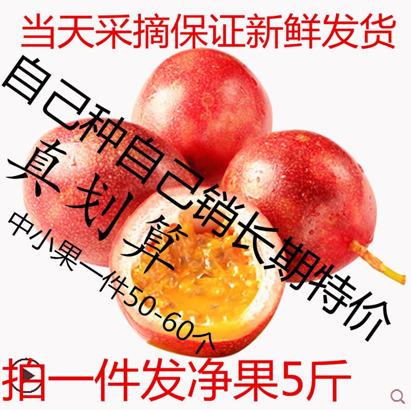 云南台农一号新鲜紫香百香果西潘莲5斤装40-60个多省包邮中红果