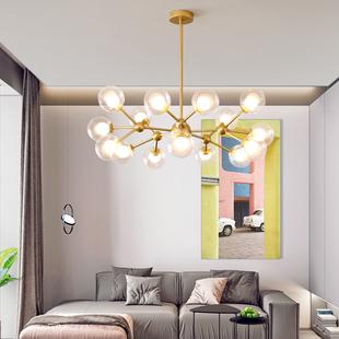 北欧灯具现代简约大气轻奢客厅套餐创意卧室书房灯客厅魔豆吊灯