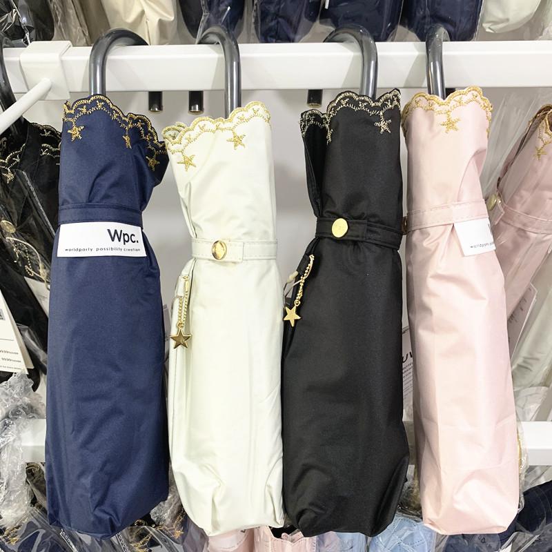 日本本土WPC防晒伞遮阳伞防紫外线99%遮光晴雨伞折叠太阳伞 正品