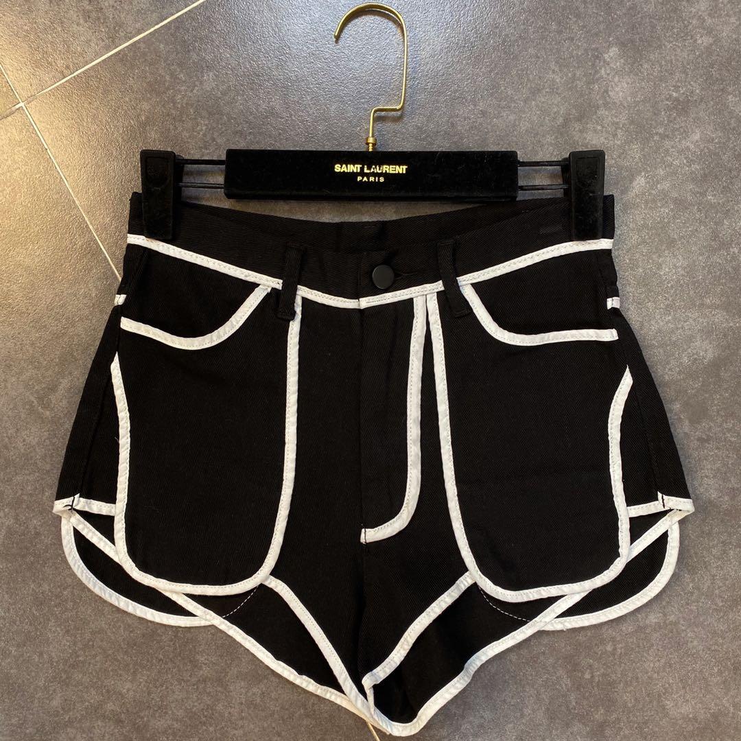 网红同款柚子mm2020夏款黑白短裤