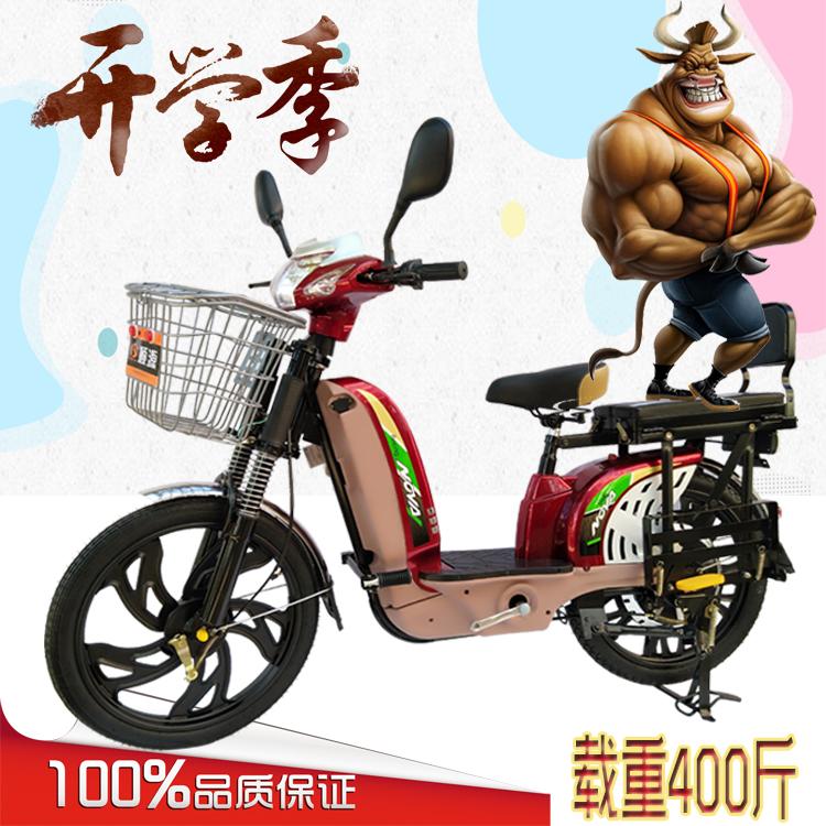 热销11件买三送一顺源载重电动车电动自行车快递电单车拉货电瓶车两轮双人车